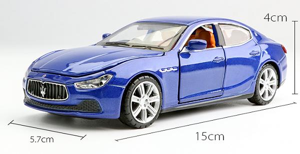 โมเดลรถเหล็ก โมเดลรถยนต์ Maserati Ghibil blue 1