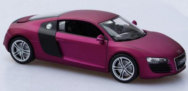 โมเดลรถ โมเดลรถเหล็ก โมเดลรถยนต์ audi r8 purple 2