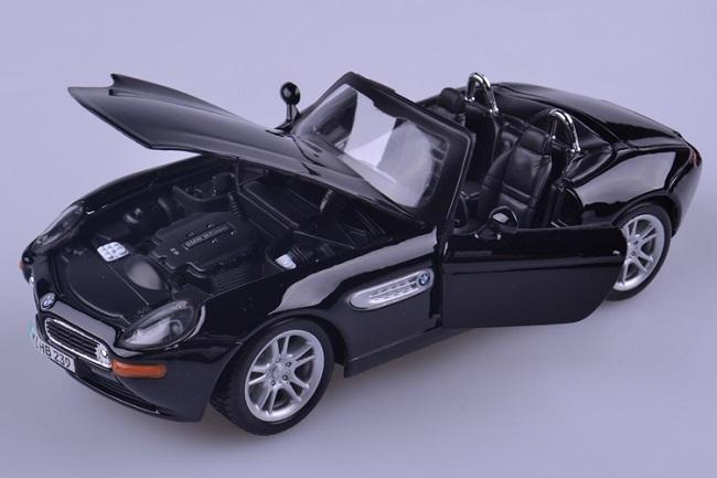 โมเดลรถ โมเดลรถเหล็ก โมเดลรถยนต์ BMW Z8 black 4