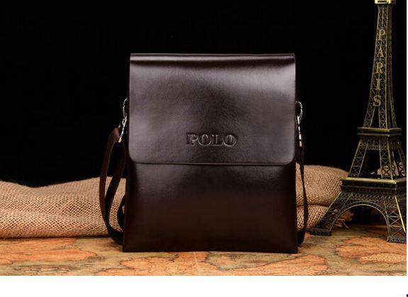 กระเป๋าสะพายข้างผู้ชาย กระเป๋าสะพาย Polo หนังมัน Oil wax สีน้ำตาล และ สีดำ ใบเล็ก ใส่โทรศัพท์ กระเป๋าสตางค์ ด้านใน มี 2 ช่องแยก 850154