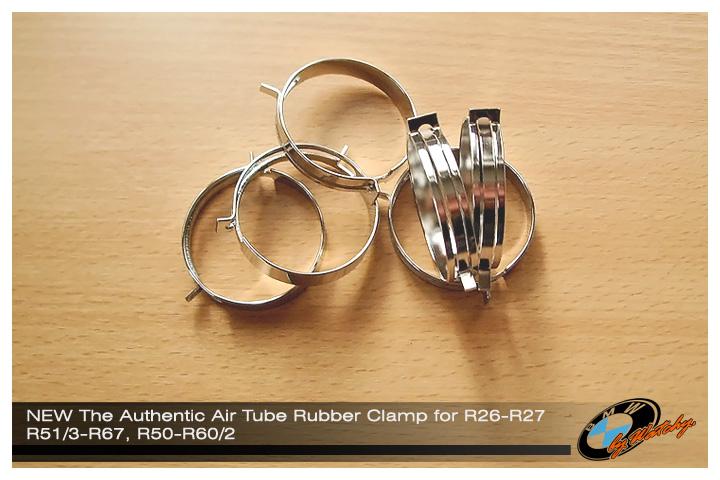แคล้มป์รัดยางปลายท่อไอดี ต่อเข้าคาร์บิวฯ แบบดั้งเดิม สำหรับ R51/3-R60/2 ,R26-R27