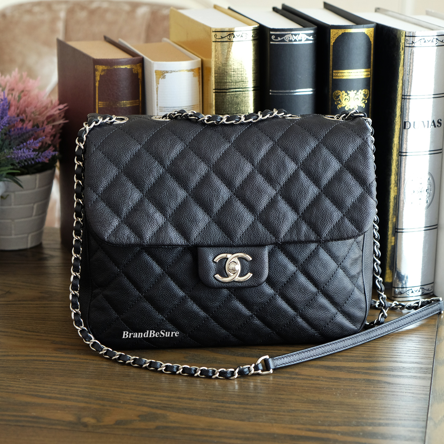 d0f712981b60 Chanel Black Caviar Small Urban Companion Flap SHW - BrandBeSure ...
