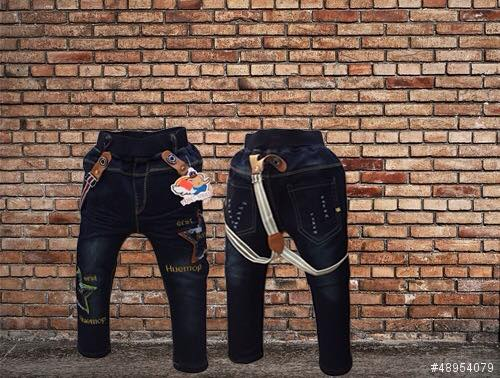 กางเกงยีนส์ (มีสายเอี๊ยม) ผ้ายีนส์ยืด
