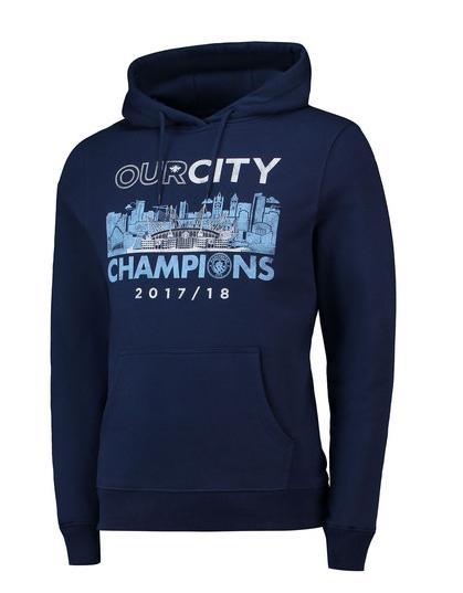 เสื้อฮู้ดแมนเชสเตอร์ ซิตี้ Premier League Winners Our City Hoodie สีน้ำเงินของแท้