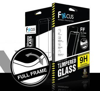 - ฟิล์มกระจกนิรภัยขอบสี เต็มจอ !!!!! Focus For iPhone 6 PLUS
