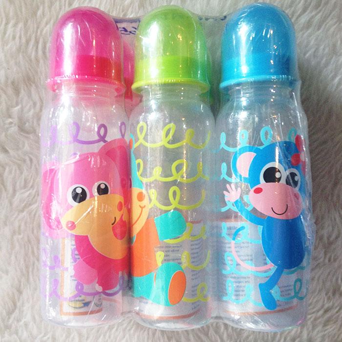 ขวดนม BPA-Free 8 ออนซ์ Buddy พิมพ์ลายการ์ตูน