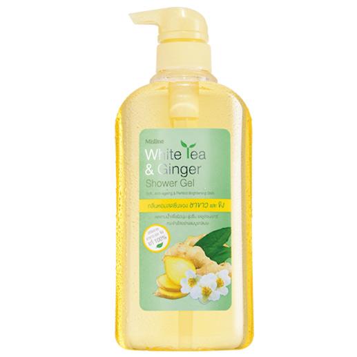 *พร้อมส่ง* Mistine White Tea & Ginger Shower Gel เจลอาบน้ำสูตรชาขาวผสมขิงบริสุทธิ์ หอมสดชื่นเนียนนุ่มน่าสัมผัส