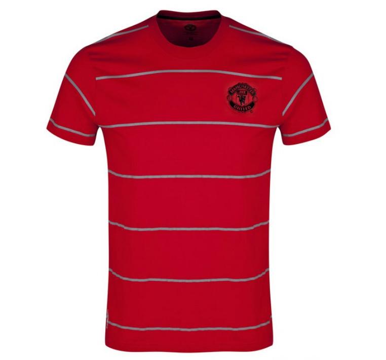 แมนยูล่าสุด: เสื้อแมนยู ของแท้ 100% Manchester United Classic Striped T