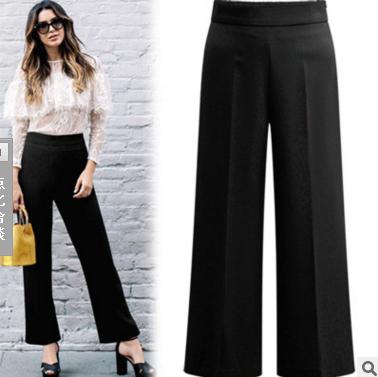 กางเกงทำงานขายาว สีดำ (XL,2XL,3XL,4XL,5XL) X0316#