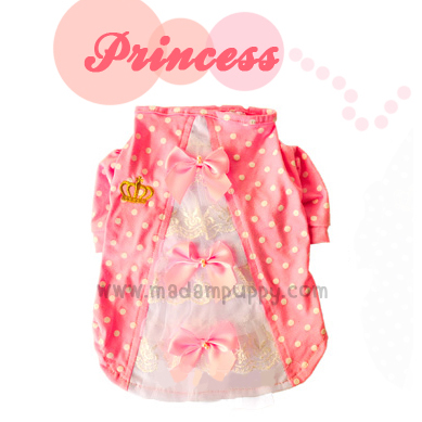 เสื้อสุนัข สไตล์เจ้าหญิง สีชมพู (พร้อมส่ง)