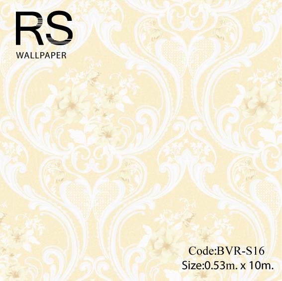 วอลเปเปอร์ลายวินเทจ ดอกไม้ BVR-S16