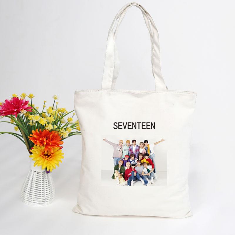 กระเป๋าผ้าสะพายข้าง - SEVENTEEN
