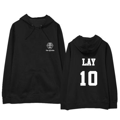 """เสื้อแขนยาวมีฮู้ด EXO Planet #4 – """"The EℓyXiOn"""" - LAY"""