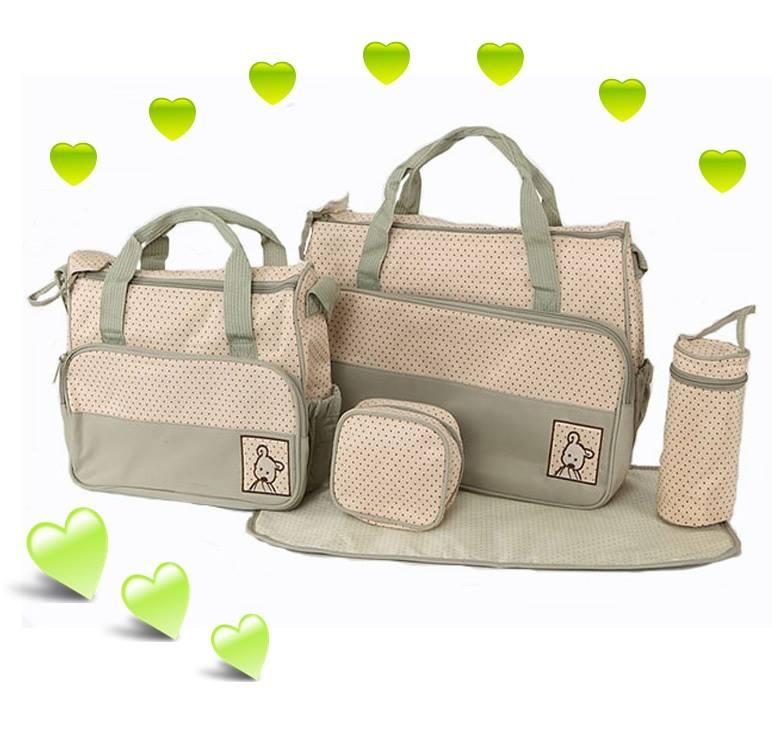 กระเป๋าสัมภาระคุณแม่ 5 ชิ้น Mummy (High-End รุ่น Huayao) สีเทา