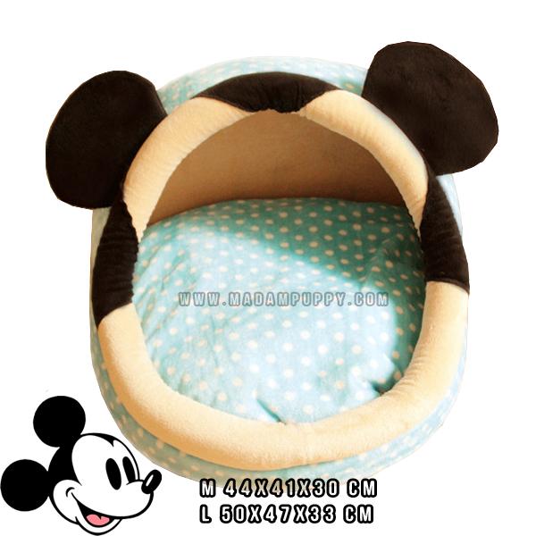 (พร้อมส่ง) ที่นอนสุนัข โดมมิกกี้ สีฟ้า