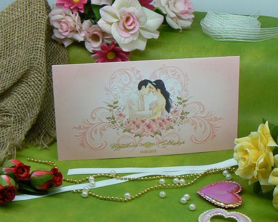 SCT 92101 การ์ดแต่งงานสองพับ สีชมพู