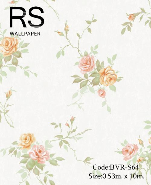 วอลเปเปอร์ลายดอกไม้ BVR-S64