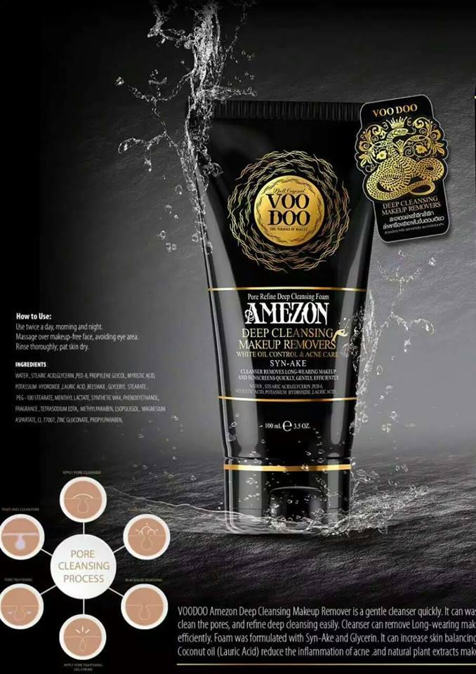 VOODOO AMEZON Makeup Remover & Deep cleansing Foam.