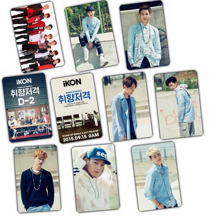 สติ๊กเกอร์ PVC กันน้ำ เซตละ 10 ใบ - iKON : Warm Up Single