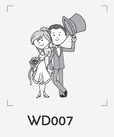 ตราปั๊มงานแต่ง WD007