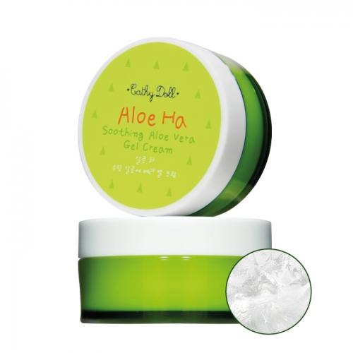 Soothing Aloe Vera Gel Cream 50ml Cathy Doll Aloe Ha ครีมทาบำรุงผิวในรูปแบบเนื้อเจลใสดุจว่านหางจระเข้ อัดแน่นไปด้วยพลังแห่งน้ำเลี้ยงธรรมชาติอย่างสารสกัดว่านหางจระเข้