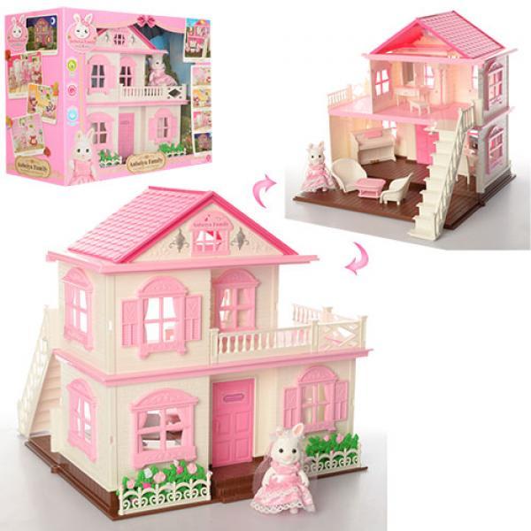 บ้านตุ๊กตา 2 ชั้น เปิดไฟได้
