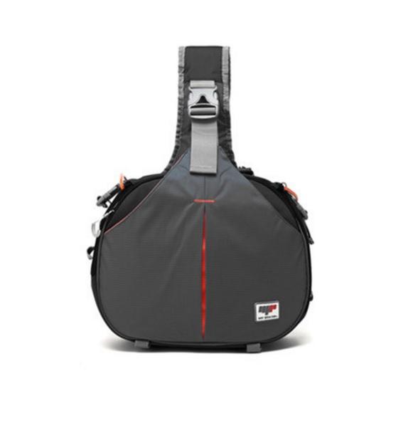 กระเป๋ากล้องStatin ทรงสี่เหลี่ยม สีเทาดำ