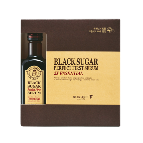 Skinfood Black Sugar Perfect First Serum 2X-essential-(skin-brightening and Anti-wrinkle Effects)