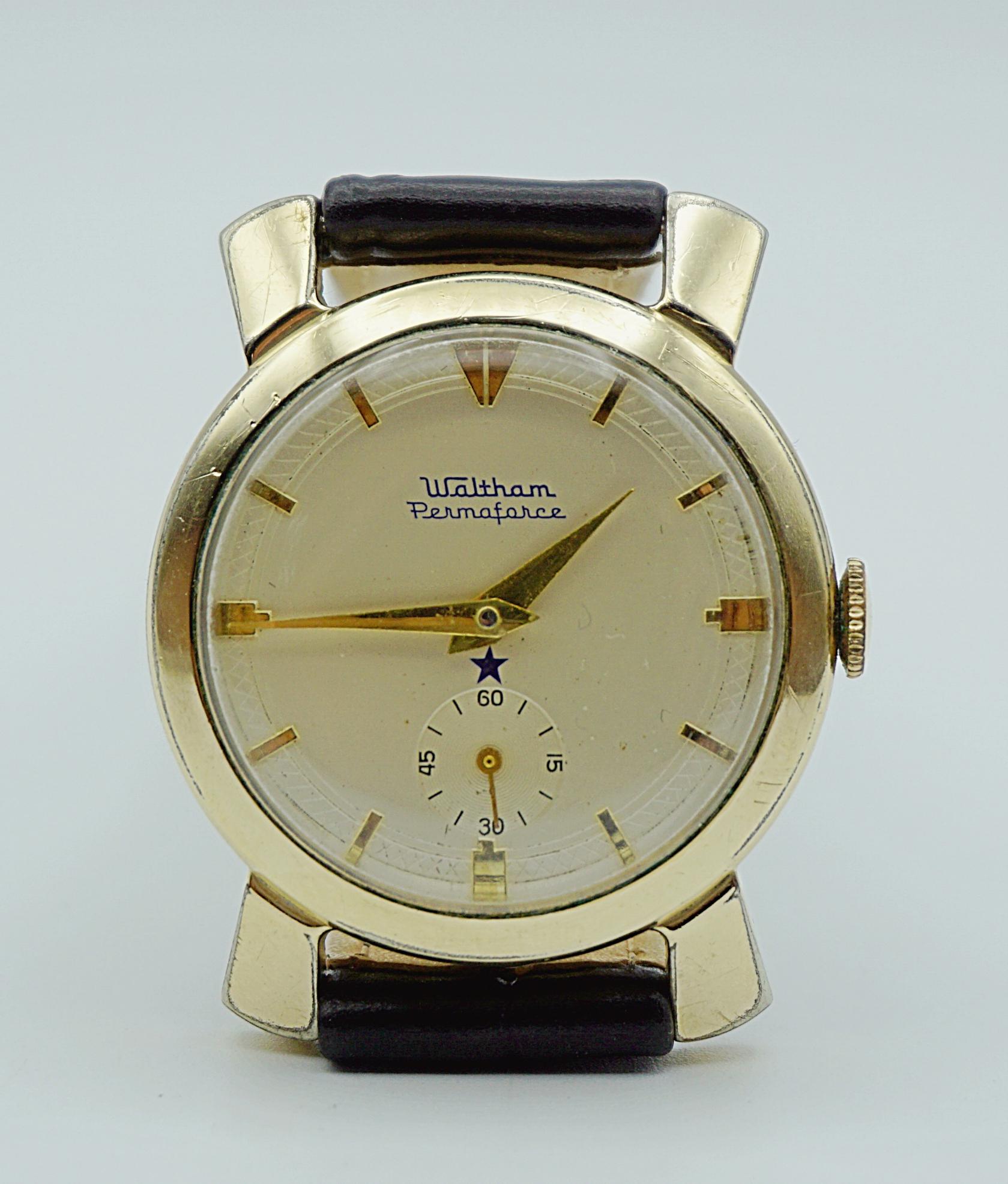 นาฬิกาเก่า WALTHAM ไขลานสองเข็มครึ่ง
