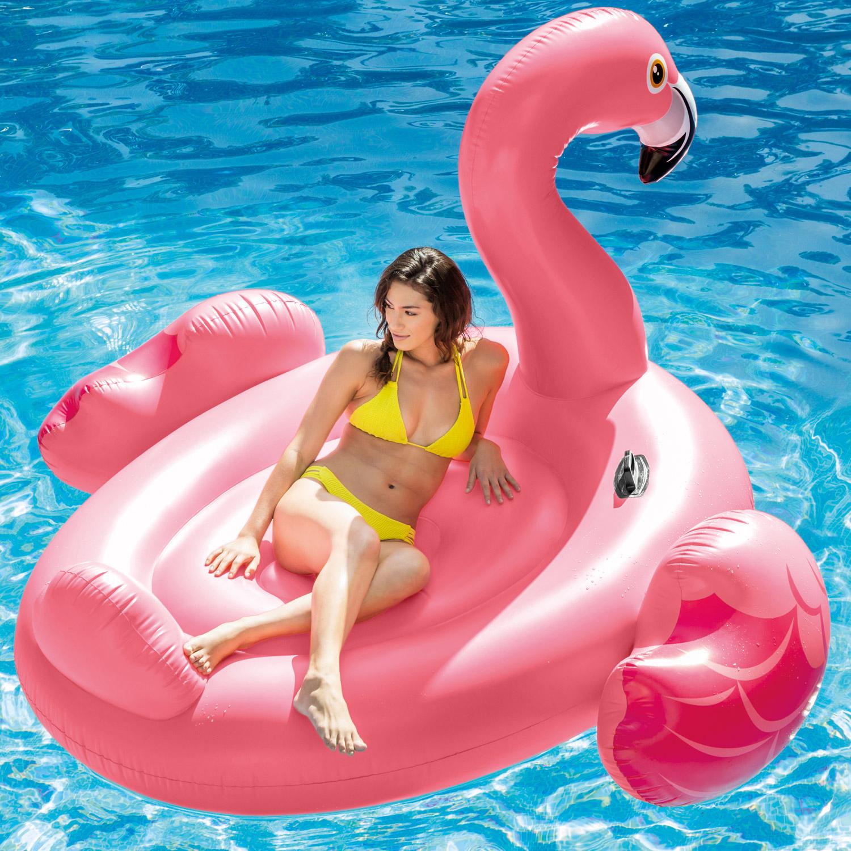 Intex Mega Pink Flamingo แพยางเป่าลมนกฟลามิงโก้ตัวใหญ่ สีชมพู ตัวใหญ่ แถมสูบลม ส่งฟรี kerry!!