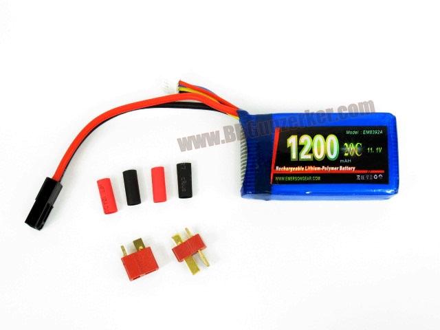 แบตลิโพ Emerson 20C 11.1V 1200mAh (Litium Polymer Battery)