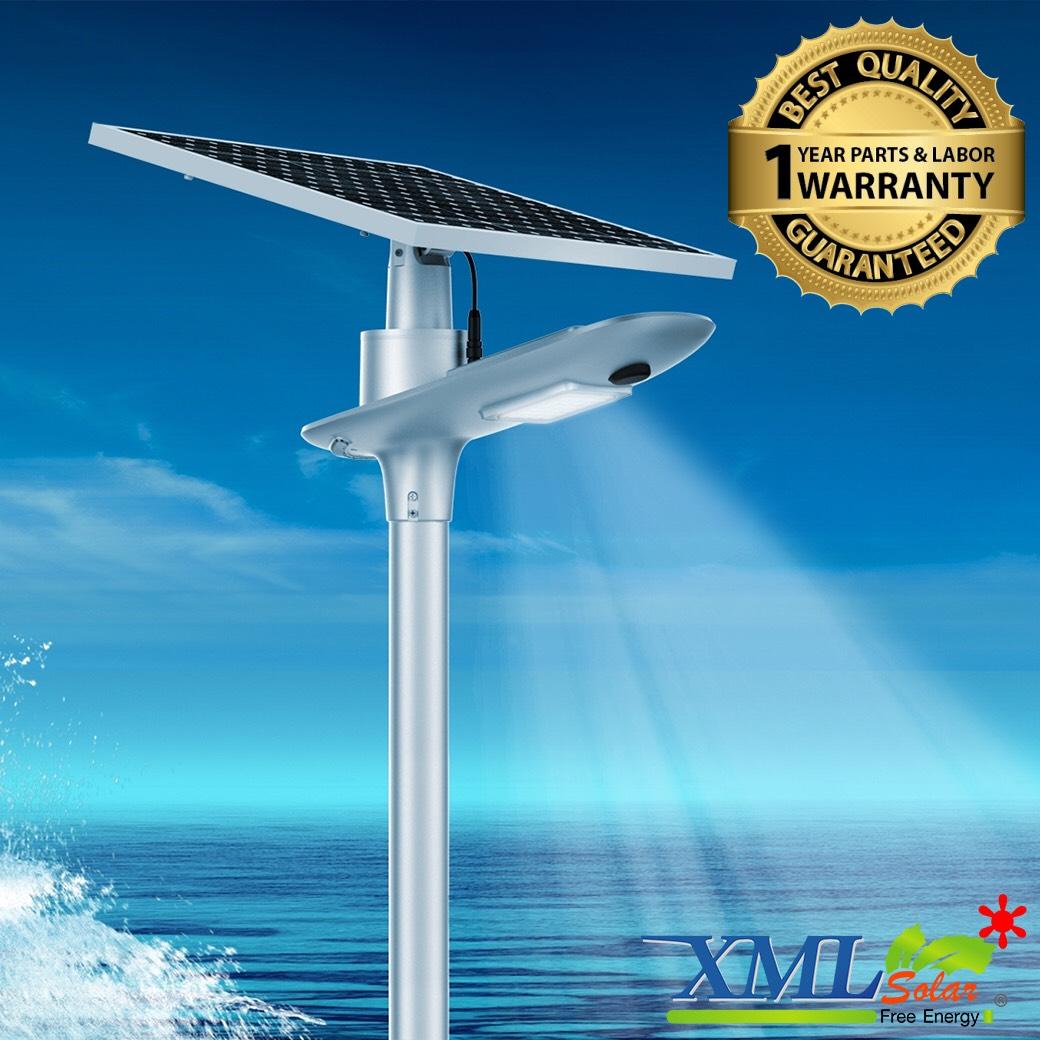 โคมไฟถนนโซล่าเซลล์อัจฉริยะ ทรง Sailing รุ่น 65 watt Polycrystalline (แสง : ขาว)