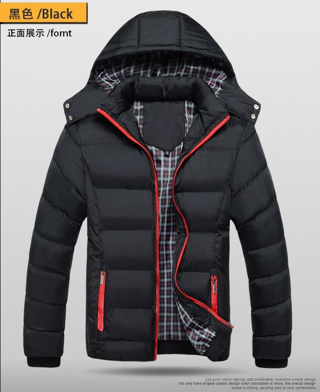 fashion เสื้อกันหนาว หมวกถอดได้ สีดำ (รอสินค้า15-20วัน)