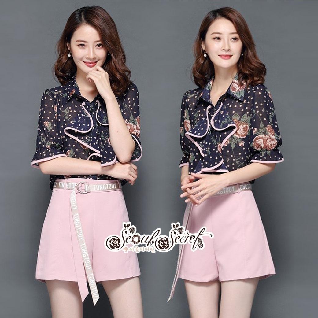 T-Shirt Tie Chic Chic Blue&Pink Set