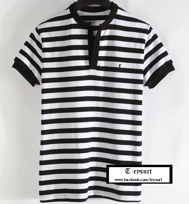 เสื้อSaint Laurent Striped Polo