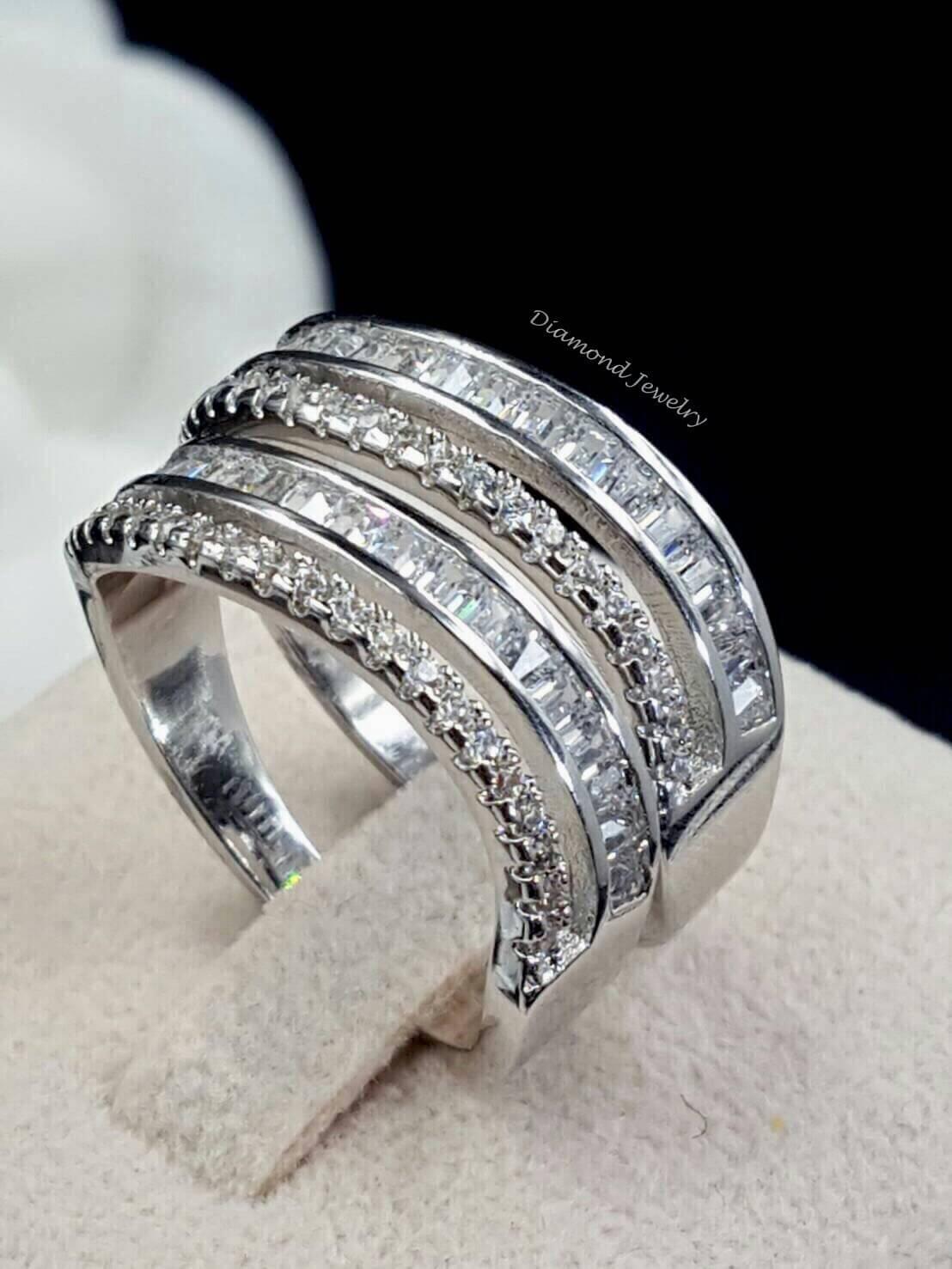 พร้อมส่ง Diamond Ring งานเพชร CZ แท้ แหวนเซตมี 2 วง