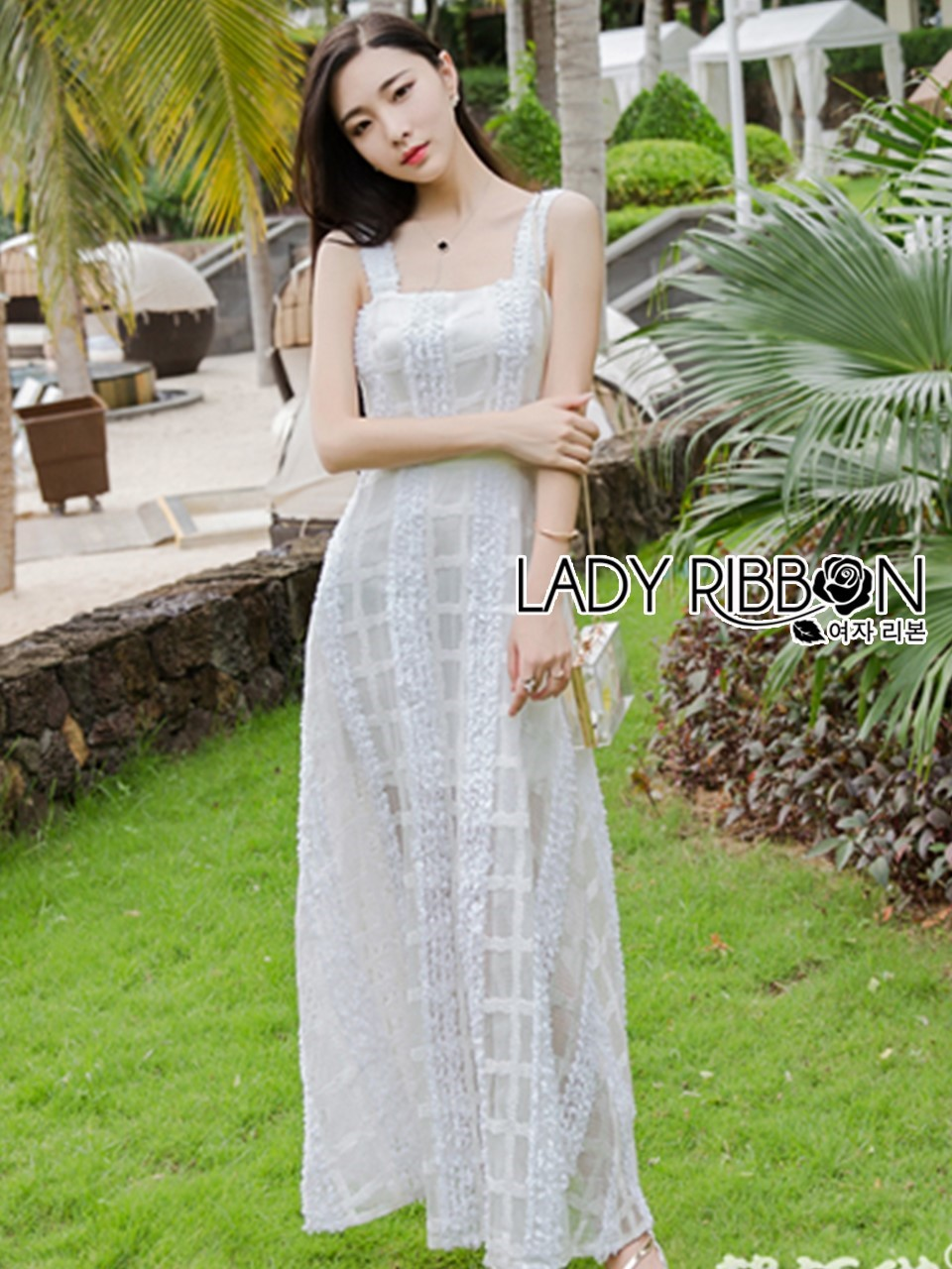 Tanya Summer Chic White Flower Embroidered and Tulle Dress