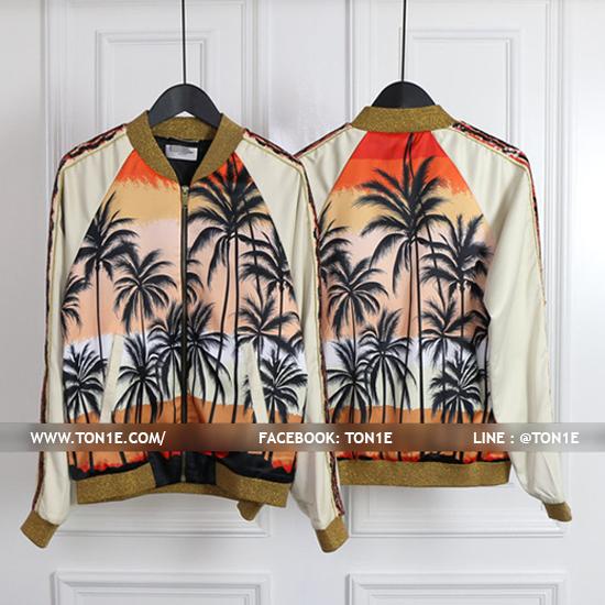 เสื้อแจ็คเก็ตSAINT LAURENT SUNSET BOMBER JACKET SS16
