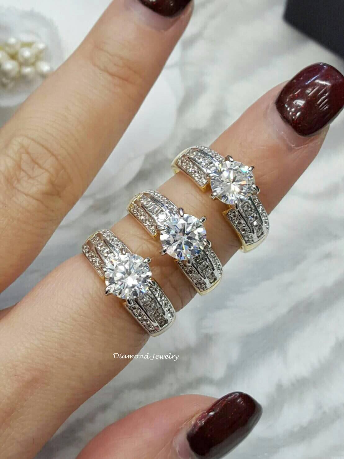 แหวนเพชรเหมือนแท้ เพชรชู เพชรคัดเพชรน้ำงามมากก