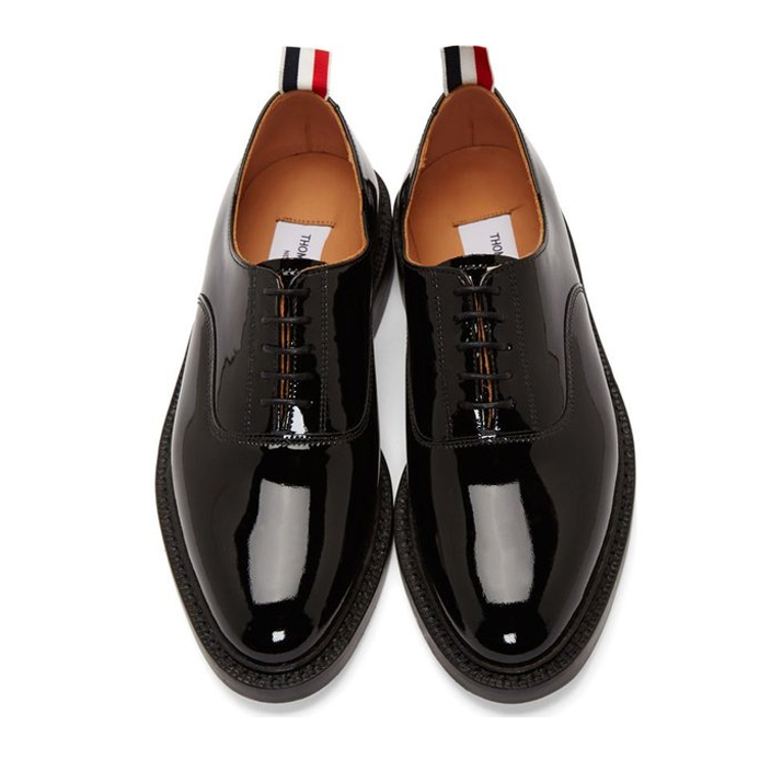 รองเท้าหนังThom Browne Patent Leather Oxfords 1:1