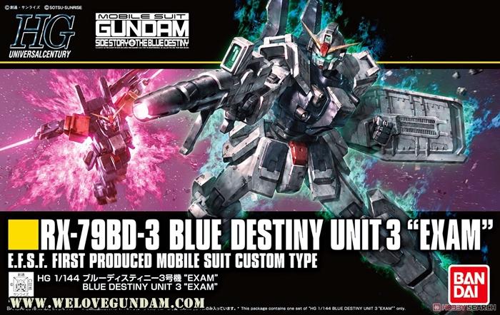 """HG 1/144 BLUE DESTINY UNIT3""""EXAM"""