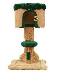 MU0162 คอนโดแมว รูปทรงต้นไม้ ที่นอนบ้านแมว สีเขียวสดใส