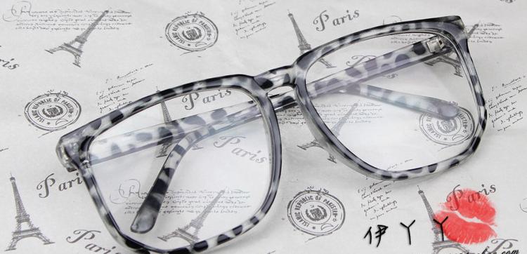 แว่นตาแฟชั่นเกาหลี สีเทาเสือดาว (พร้อมเลนส์)