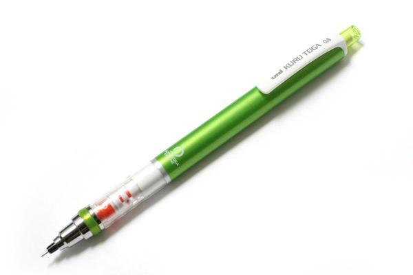 uni KURU TOGA ดินสอกดหมุนแกนไส้ดินสอ 360 องศา - Metallic Green