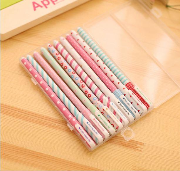 (เซ็ต 10 สี) Happy Day Gel Pen #Sweet Pastel