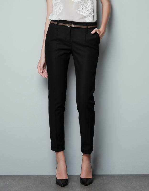 กางเกงทรงฮาเรมอีกแบบที่อยากแนะนำ ใส่ทำงาน ใส่ชิล สีดำ(Black)