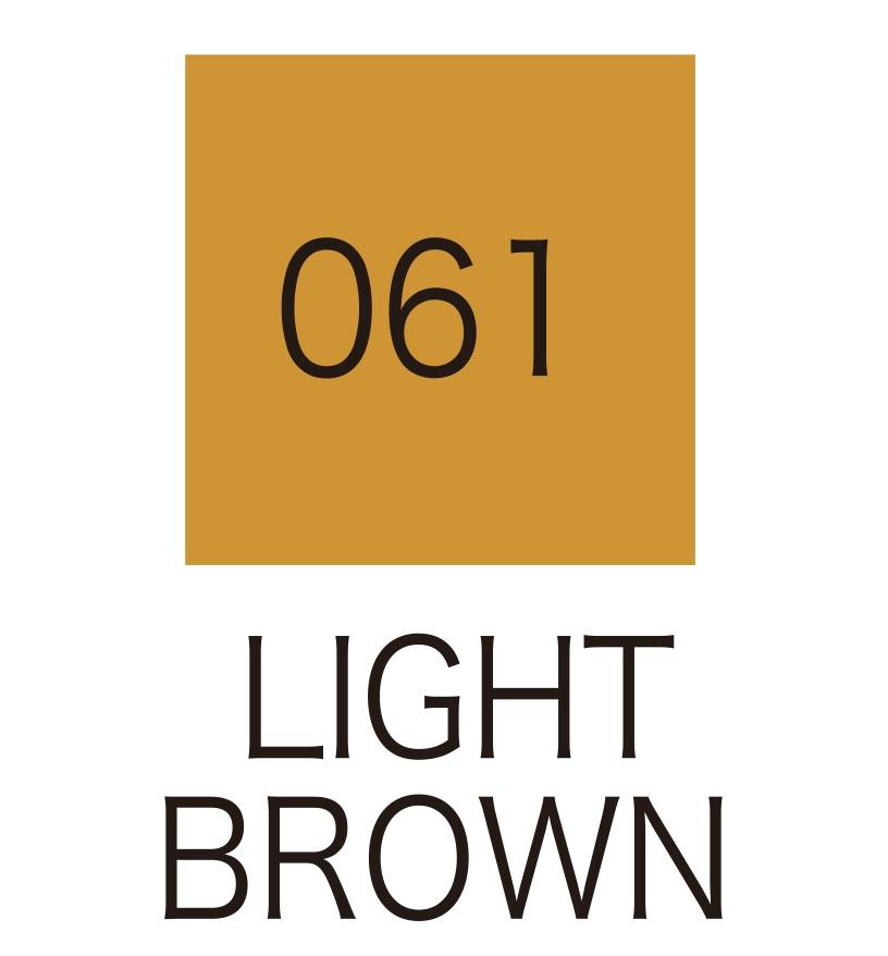ปากกาสี 2 หัว ZIG CLEAN COLOR No.061 - Light Brown