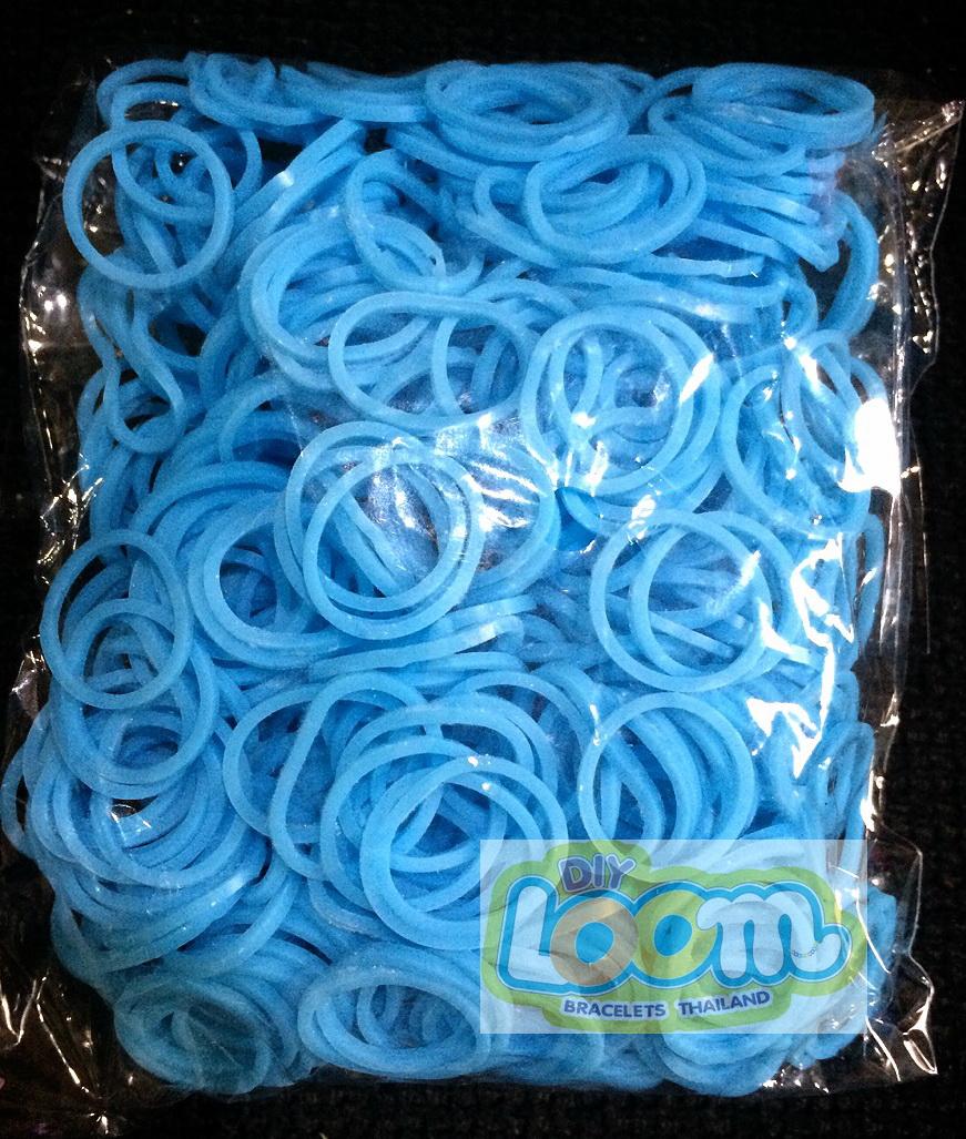 100%ซิลิโคน ตกสเปก สีฟ้าสดใส 600 เส้น (LB)