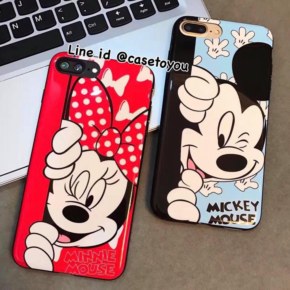 เคสนิ่ม Mickey & Minnie iPhone X