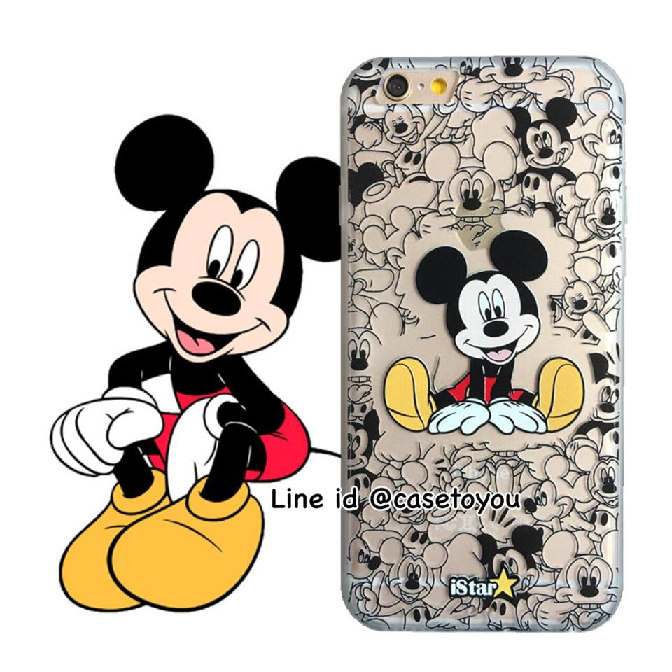 เคสใส สกรีนลายเส้นนูน Mickey Mouse 02 iPhone 7
